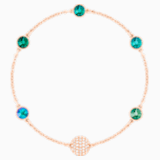 Swarovski Remix Collection Green Strand, Multi-colored, Rose-gold tone plated - Swarovski, 5412326