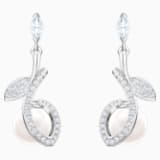 Leonore 穿孔耳環, 多色設計, 鍍白金色 - Swarovski, 5412639
