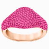 Stone Signet Ring, Pink, Rose-gold tone plated - Swarovski, 5413612