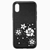 Mazy Smartphone Case with integrated Bumper, iPhone® X/XS, Black - Swarovski, 5413899