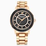 Octea Lux Часы, Металлический браслет, Черный Кристалл, PVD-покрытие оттенка розового золота - Swarovski, 5414419
