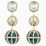 Mary Katrantzou Nostalgia Double Drop Pierced Earrings, Gold-tone plated - Swarovski, 5414517