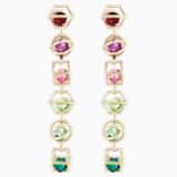 Mary Katrantzou Nostalgia Duster Pierced Earrings, Gold-tone plated - Swarovski, 5414519