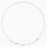 Collar Louison Pearl, blanco, Baño de Rodio - Swarovski, 5414693