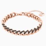 Lane Bracelet, Black, Rose-gold tone plated - Swarovski, 5414993