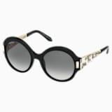 Nile Round Sunglasses, SK162-P 01B, Black - Swarovski, 5415542