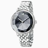Crystal Lake Watch, Metal bracelet, Dark Gray, Stainless steel - Swarovski, 5416020
