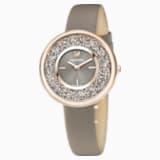 Crystalline Pure Часы, Кожаный ремешок, PVD-покрытие золотого цвета оттенка шампанского - Swarovski, 5416704