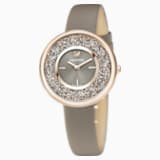 Crystalline Pure Watch, Leather strap, Champagne-gold tone PVD - Swarovski, 5416704