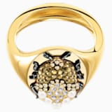 Magnetic Signet Ring, Multi-coloured, Mixed metal finish - Swarovski, 5416785