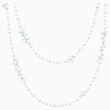 Louison 项链, 白色, 镀铑 - Swarovski, 5418111