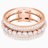Further Ring, White, Rose-gold tone plated - Swarovski, 5419854
