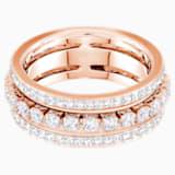 Further gyűrű, fehér, rozéarany árnyalatú bevonattal - Swarovski, 5419854
