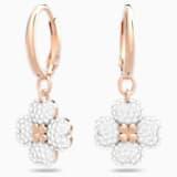 Latisha Серьги, Белый Кристалл, Покрытие оттенка розового золота - Swarovski, 5420249