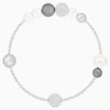 Swarovski Remix kollekció gyöngy lánc, szürke, ródium bevonatú - Swarovski, 5421436