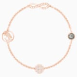 Swarovski Remix Collection Infinity Strand, Black, Rose-gold tone plated - Swarovski, 5421441