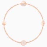 Swarovski Remix Collection Round Strand, Белый Кристалл, Покрытие оттенка розового золота - Swarovski, 5421445