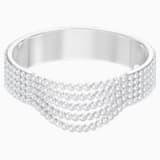 Fit Bangle, White, Stainless steel - Swarovski, 5424589