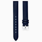 14mm Watch strap, Leather, Blue, Stainless Steel - Swarovski, 5425078