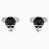 Taddeo Cufflinks, Black, Palladium plated - Swarovski, 5427147