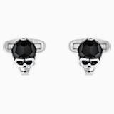 Taddeo Cufflinks, Black, Palladium plated - Swarovski, 5427147