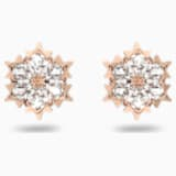 Magic 穿孔耳环, 白色, 镀玫瑰金色调 - Swarovski, 5428429