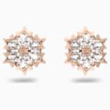 Vpichovací náušnice Magic, bílé, pozlacené růžovým zlatem - Swarovski, 5428429