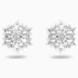 Magic 穿孔耳环, 白色, 镀铑 - Swarovski, 5428430