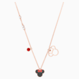 Mickey & Minnie Pendant, Multi-coloured, Rose-gold tone plated - Swarovski, 5429090