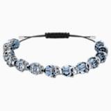Taddeo-armband, Blauw, Ruthenium toplaag - Swarovski, 5429880