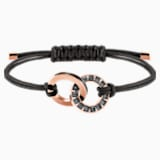Alto Bracelet, Gray, Rose-gold tone plated - Swarovski, 5429899