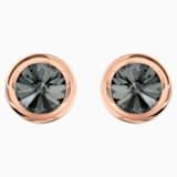 Gemelli Round, grigio, Placcato oro rosa - Swarovski, 5429900