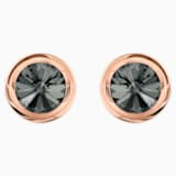 Round Cufflinks, Gray, Rose-gold tone plated - Swarovski, 5429900