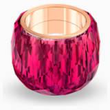 Prsten Nirvana Swarovski, červený, pozlacený růžovým zlatem PVD - Swarovski, 5432203