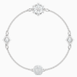 Swarovski Remix Collection Strand Snowflake, bianco, Placcatura rodio - Swarovski, 5432735