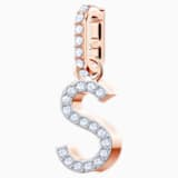 Swarovski Remix Collection Charm S, White, Rose-gold tone plated - Swarovski, 5434399