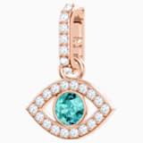 Swarovski Remix Collection Evil Eye Charm, Многоцветный Кристалл, Покрытие оттенка розового золота - Swarovski, 5434401