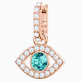 Swarovski Remix Collection Evil Eye Charm, multicolore, Placcato oro rosa - Swarovski, 5434401