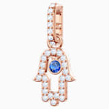 Swarovski Remix Collection Hamsa Hand Charm, multicolor, Baño en tono Oro Rosa - Swarovski, 5434402