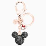 Mickey Подвеска на сумку, Черный Кристалл, Смешанное покрытие - Swarovski, 5435473