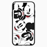 Custodia smartphone con bordi protettivi integrati Mickey Face, iPhone® X/XS, nero - Swarovski, 5435474