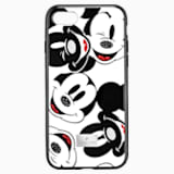 Mickey Face Smartphone Case with integrated Bumper, iPhone® 8, Black - Swarovski, 5435475