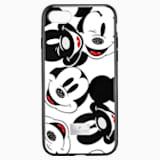 Mickey Face 智能手機防震保護套殼, iPhone® 8, 黑色 - Swarovski, 5435475