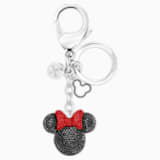 Minnie Подвеска на сумку, Черный Кристалл, Нержавеющая сталь - Swarovski, 5435479