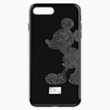 Mickey Body Smartphone Case with integrated Bumper, iPhone® 8 Plus, Black - Swarovski, 5435480