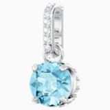 Swarovski Remix Collection Charm, Aqua, Rhodium plated - Swarovski, 5435642