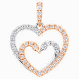 真爱之吻18K金玫瑰金钻石链坠 - Swarovski, 5436193