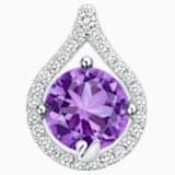 纯真之恋18K金紫晶钻石链坠 - Swarovski, 5436215