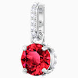 Swarovski Remix Collection Charm, January, Red, Rhodium plated - Swarovski, 5437315