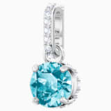 Swarovski Remix Collection Charm, December, Blue, Rhodium plated - Swarovski, 5437316